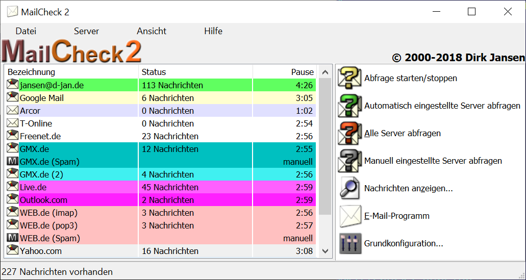 MailCheck2 full screenshot